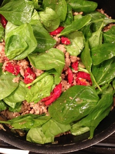 turkey and spinach