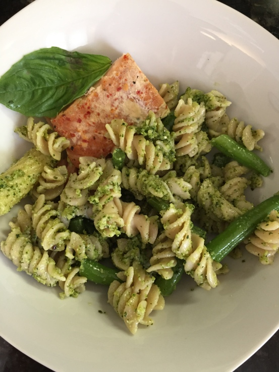 Pesto noodles