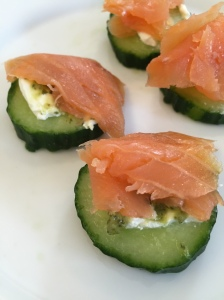 Salmon on Cucumber 2